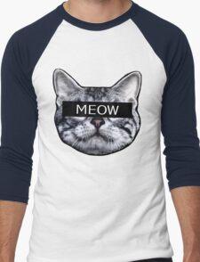 Censor Cat Men's Baseball ¾ T-Shirt
