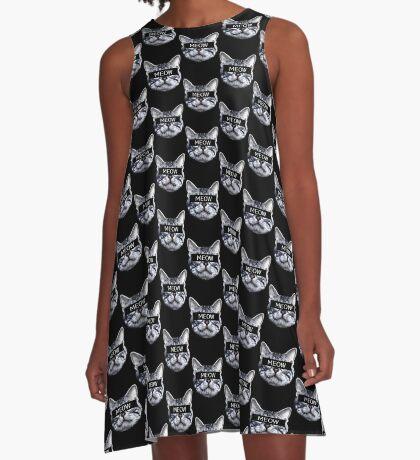Censor Cat A-Line Dress