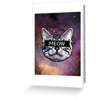 Censor Cat Greeting Card