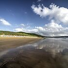 Woolacombe beach reflections by Rob Hawkins