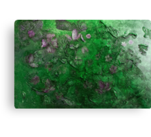 Blossoms in the wind  (green) Canvas Print