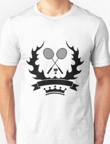 Vintage style badminton logo template Unisex T-Shirt