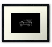Land Rover Series III Outline Framed Print