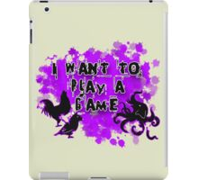 I want to play a game iPad Case/Skin