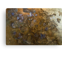 Blossoms in the wind  (gold) Canvas Print