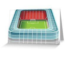 Football stadium design Greeting Card