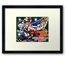 The kiss of love and revenge : jojo Framed Print