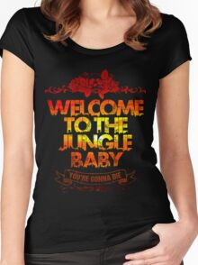 Welcome to the jungle Women's Fitted Scoop T-Shirt