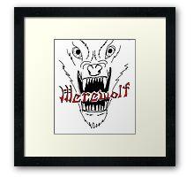 Face of the Werewolf Framed Print