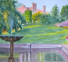 Autumn, Pashley Manor by John Rees by HurstPainters