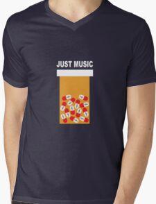 Just music Mens V-Neck T-Shirt