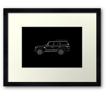Toyota Land Cruiser FJ61 Outline Framed Print