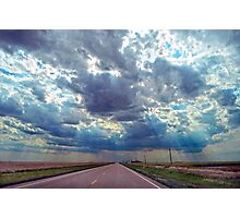 Coming Storm in Western Kansas Photographic Print