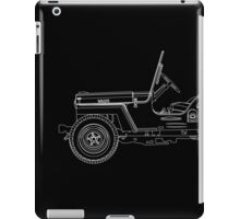 Jeep Willys CJ2A Outline iPad Case/Skin
