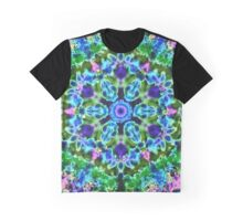 Mandala Floral Blue Green and Purple Graphic T-Shirt