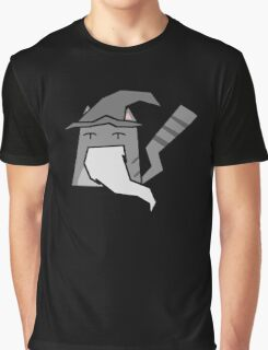 Gandalf Cat Graphic T-Shirt