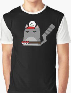 Ash (pokemon) Cat Graphic T-Shirt