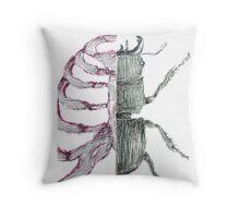 rib cage biology bug  Throw Pillow
