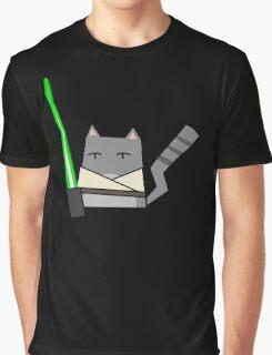Skywalker Cat Graphic T-Shirt