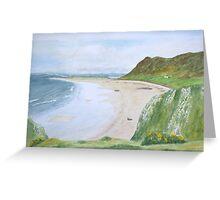 Rhossili Bay by John Rees Greeting Card