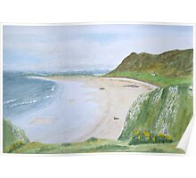 Rhossili Bay by John Rees Poster