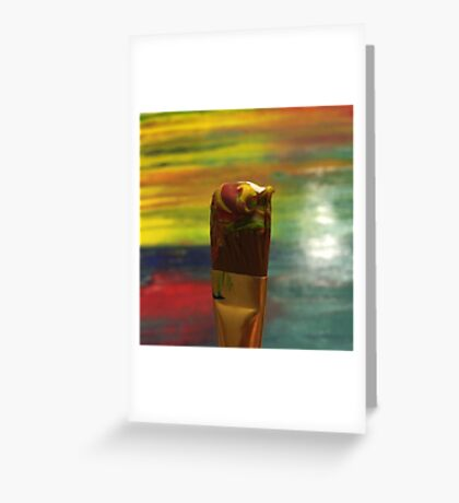 Impressionist Brush Greeting Card
