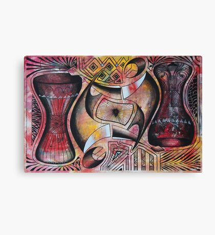 Upside Down Ngoma Instruments Canvas Print