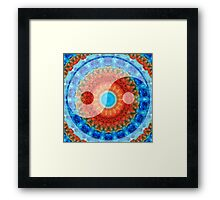 Ideal Balance Yin and Yang by Sharon Cummings Framed Print