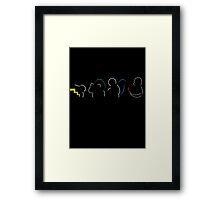 Starters Silhouette Framed Print