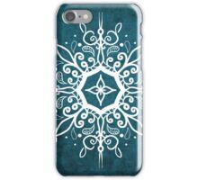 Mandala Teal and White iPhone Case/Skin
