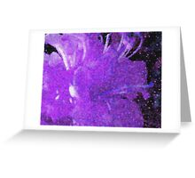 Floral Impression, Purple Greeting Card