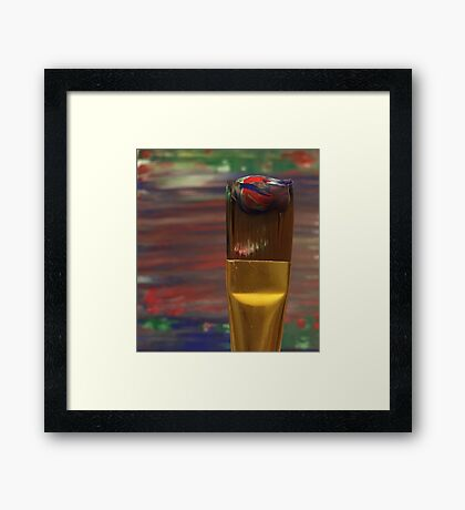 Marbled Paint Brush Framed Print