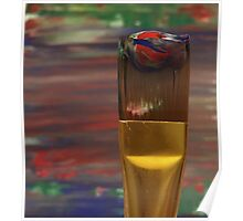 Marbled Paint Brush Poster