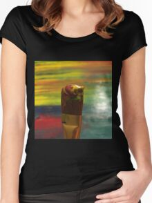 Impressionist Brush Women's Fitted Scoop T-Shirt