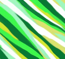 Green Stripey Tiger Abstract Sticker