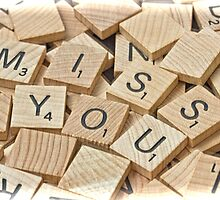 Miss you card by GalleryThree