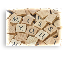 Miss you card Canvas Print