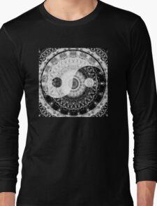 Ideal Balance Black And White Yin and Yang by Sharon Cummings Long Sleeve T-Shirt