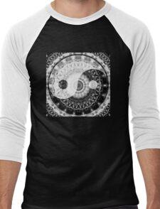 Ideal Balance Black And White Yin and Yang by Sharon Cummings Men's Baseball ¾ T-Shirt
