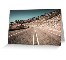 Open Road West Texas Photography Greeting Card