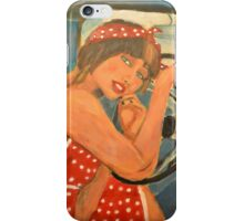 Rockabilly girl iPhone Case/Skin
