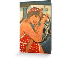 Rockabilly girl Greeting Card