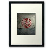 The Seal of Metatron (Red) Framed Print