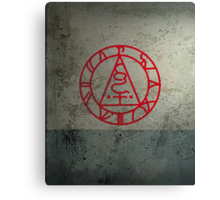 The Seal of Metatron (Red) Canvas Print