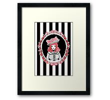Gothic Rose Lady in the Mirror Framed Print