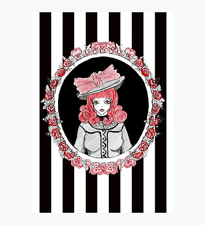 Gothic Rose Lady in the Mirror Photographic Print