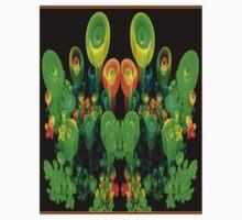 """""""PSYCHEDELIC FLOWER GARDEN"""" Art Deco Print Baby Tee"""