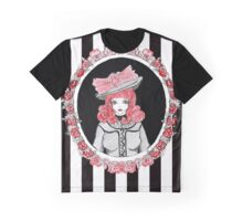 Gothic Rose Lady in the Mirror Graphic T-Shirt