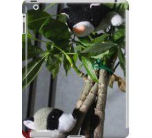 Raccoon and Cat Hide and Seek iPad Case/Skin