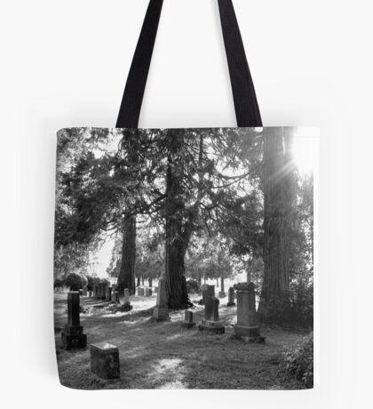 Fair Oaks Cemetery Black & White Tote Bag